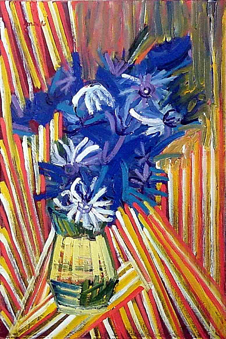 Blue flowers/oil on canvas/private collection