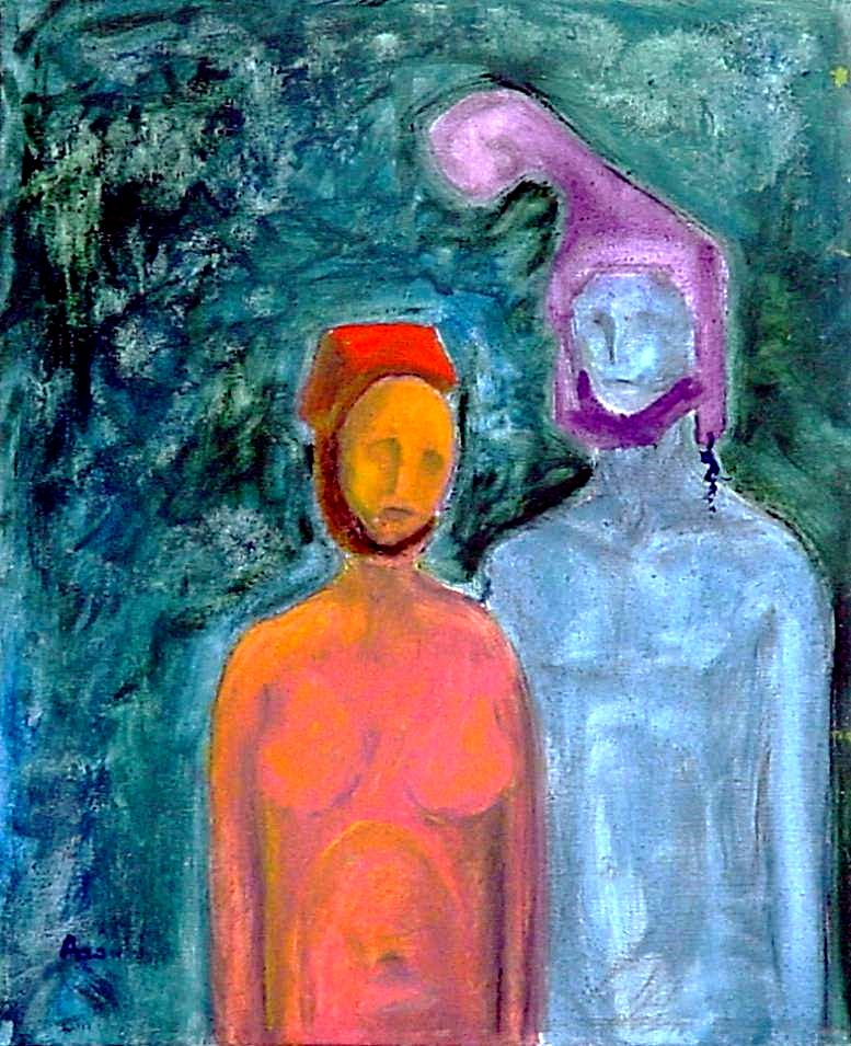 Couple/oil on canvas/private collection