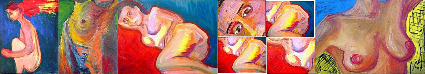 Nudes/oil on canvas/private collections